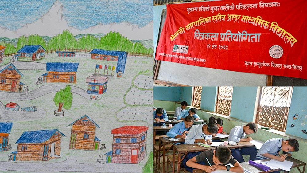 ISET Nepal - Art Competition at Melamchi
