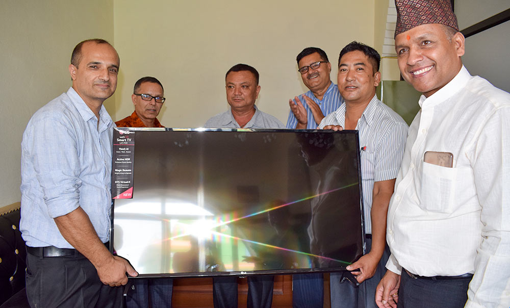 Television Handover as part of Safer Cities Project by ISET Nepal