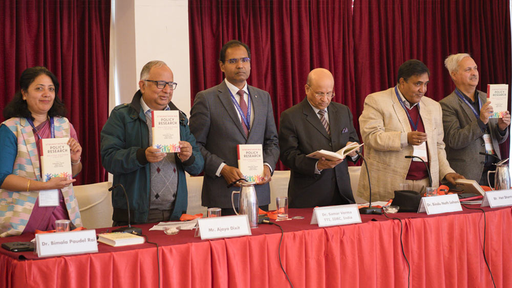 """Strengthening Policy Research"" Book launch at Kathmandu"
