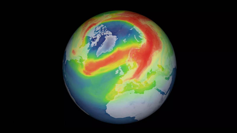 Largest Arctic ozone hole on record closes itself up