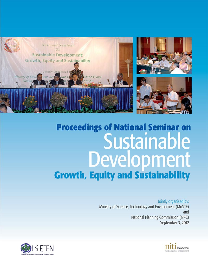 Proceedings of National Seminar on Sustainable Development:Growth, Equity and Sustainability