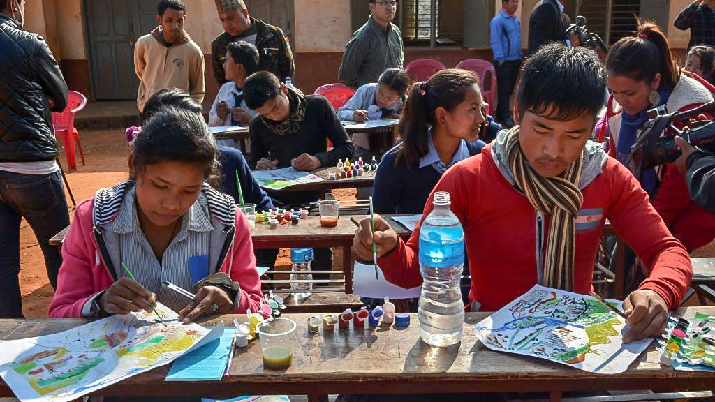 ISET Nepal Art Competition at Panchkhal, Kavre