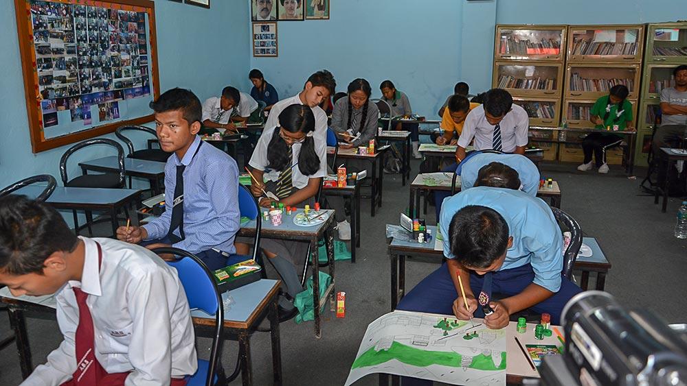 ISET Nepal art competition tundaldevi